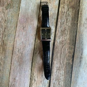 Guess men's watch with faux croc leather band